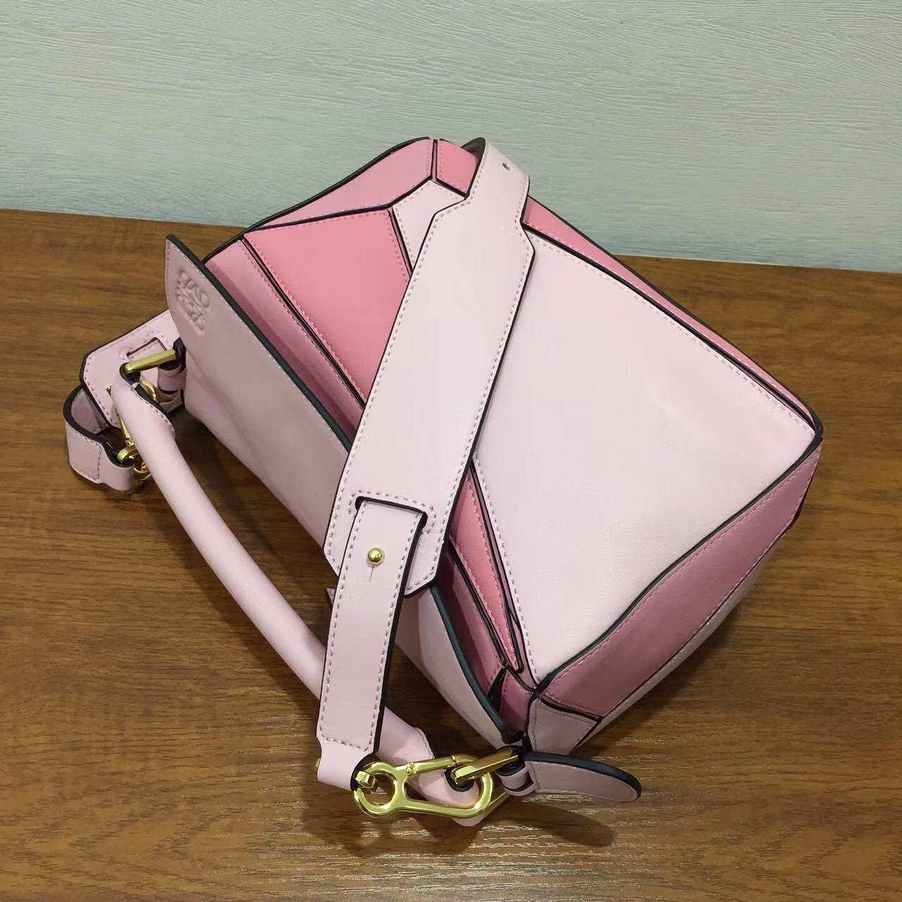 loewe羅意威 Puzzle Small Bag soft pink/candy/dark pink