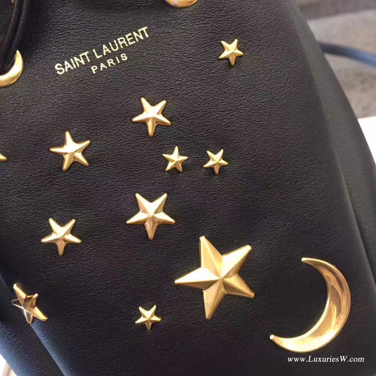 聖羅蘭YSL Saint Laurent SLP 星星月亮迷你mini水桶包,可单肩可斜挎,无敌可爱