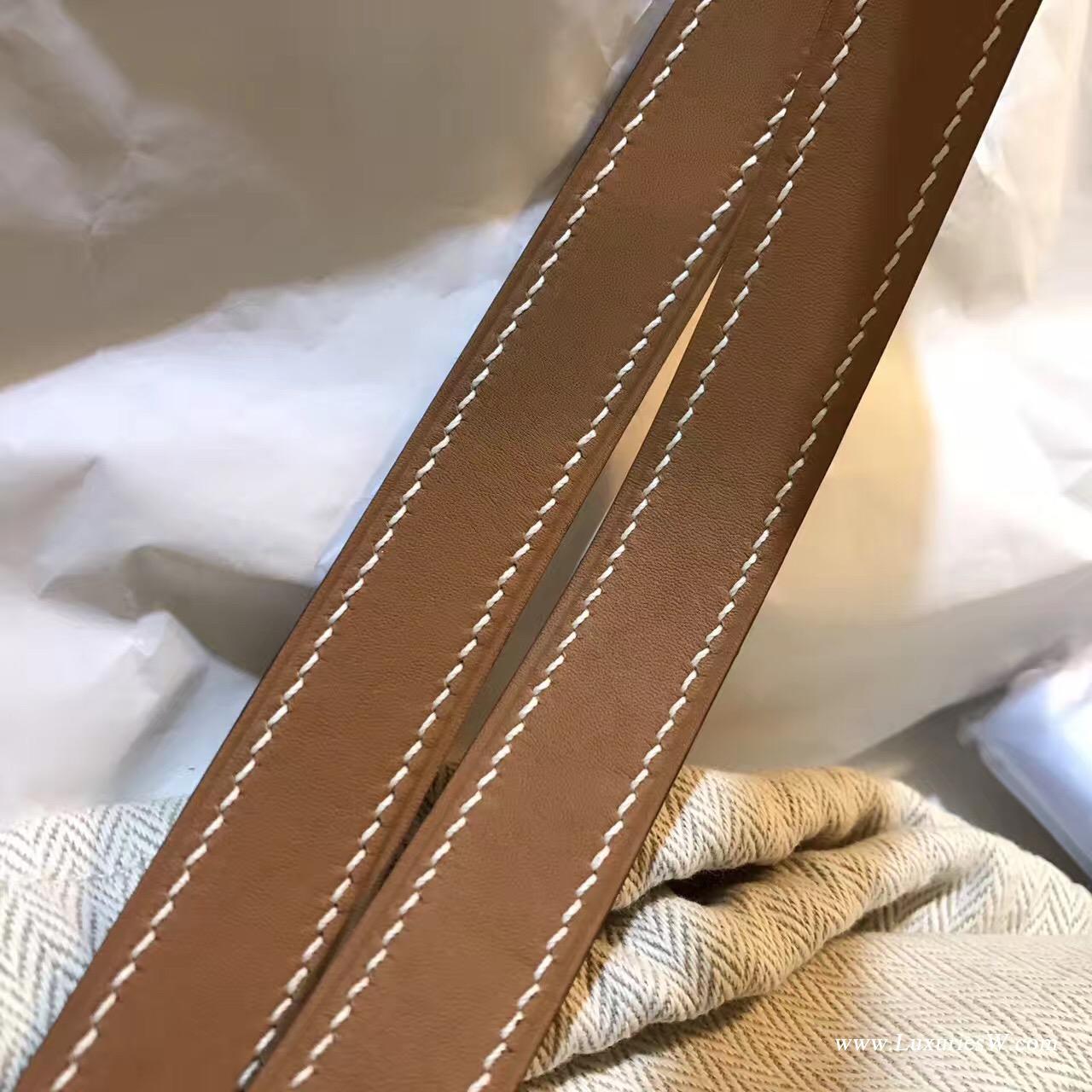 Kelly Belt Epsom CK 37 Gold金棕色腰带 纯手工