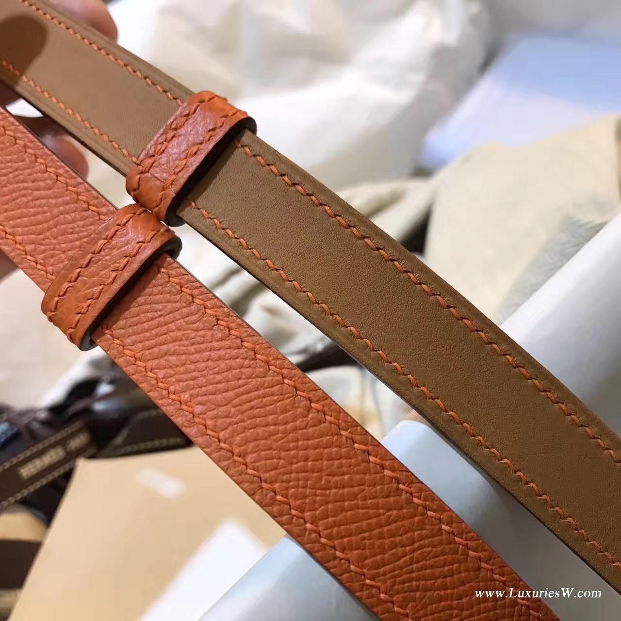 Kelly Belt Epsom CK93 Orange经典橙色腰带 纯手工