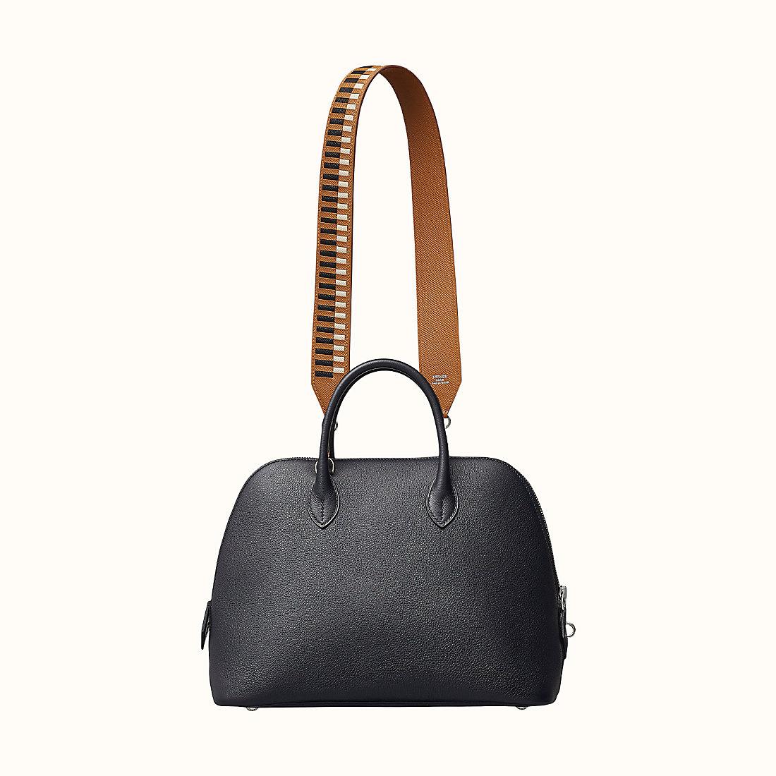 香港沙田區 Hermes Tressage cuir 肩帶40毫米 金色/黑色/粉筆白