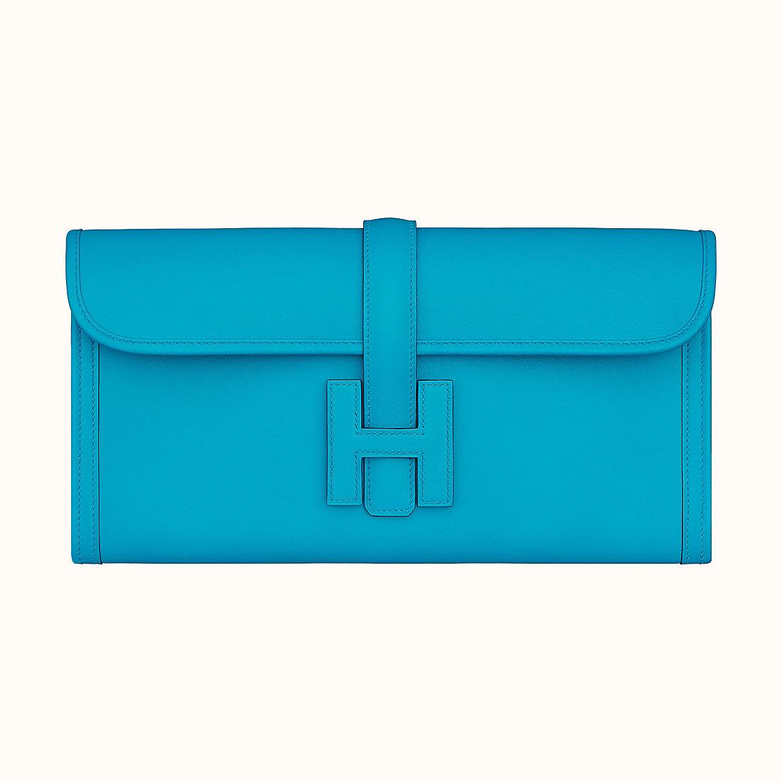 Macao Hermes Jige Elan 29 verso clutch Bleu Frida/Rose Mexico