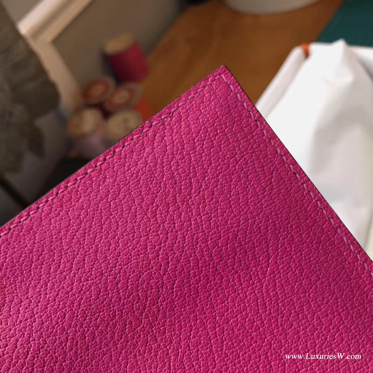 Herems Verrou Chaine bag 手包最新款手包 E5糖果粉色 銀扣