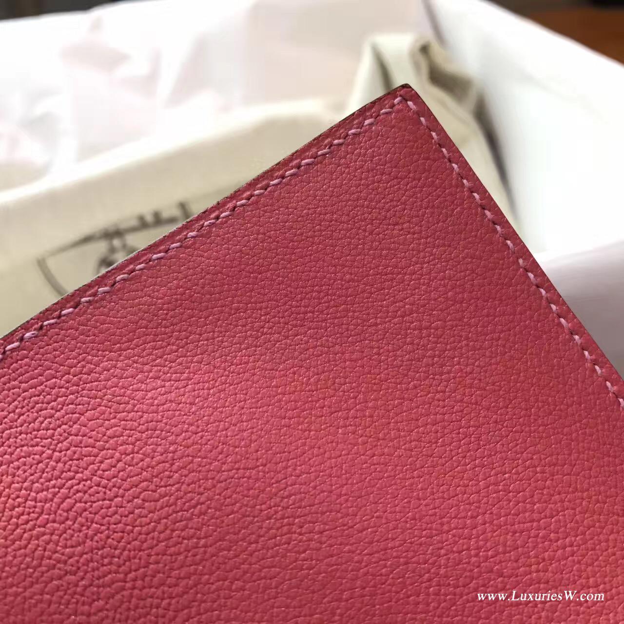 愛馬仕 Herems Verrou Chaine bag 手包最新款手包 8W Rose Azalee 新唇膏粉色銀扣