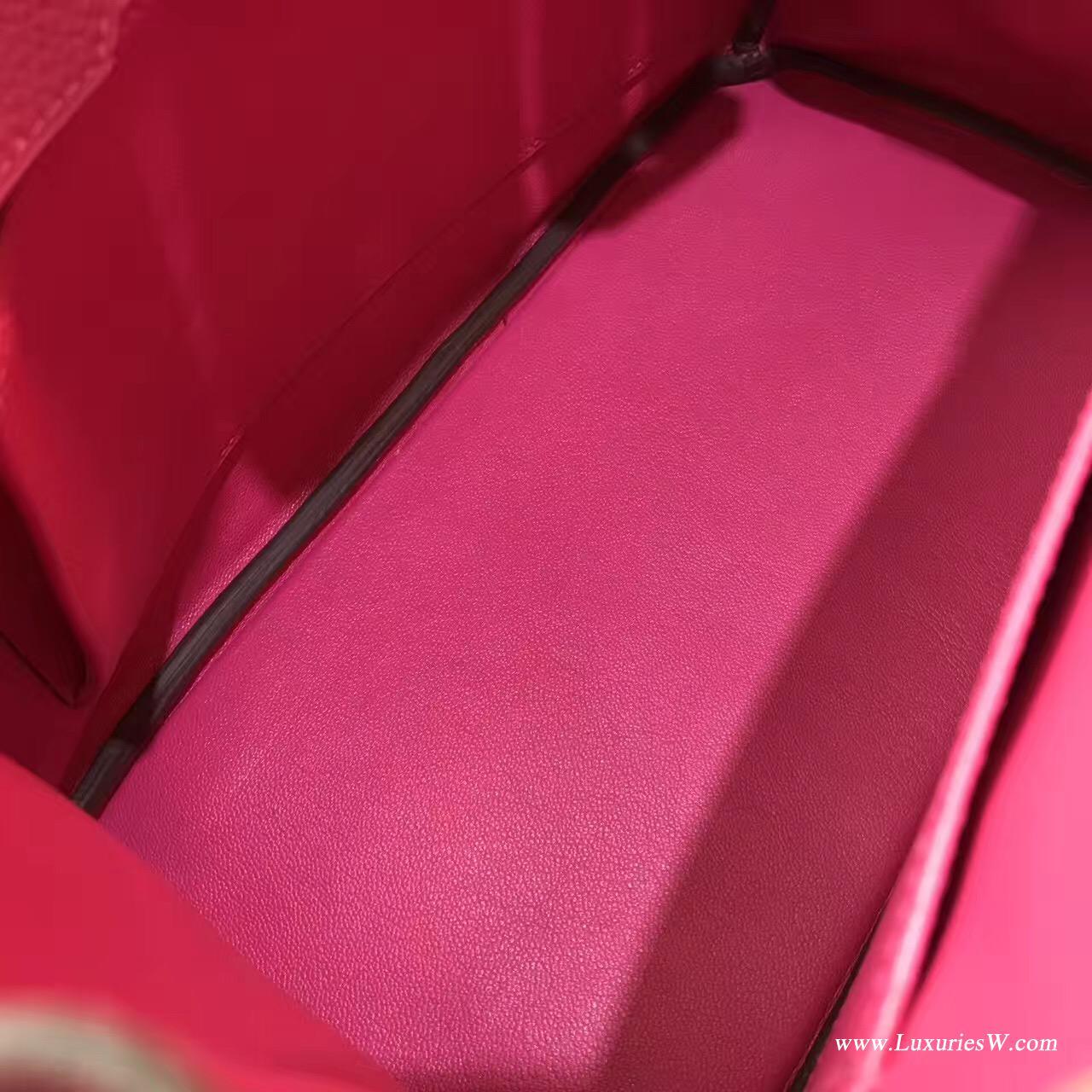 愛馬仕鉑金包專櫃價格 hermes Birkin Bag 30 togo糖果桃紅色 金扣金属