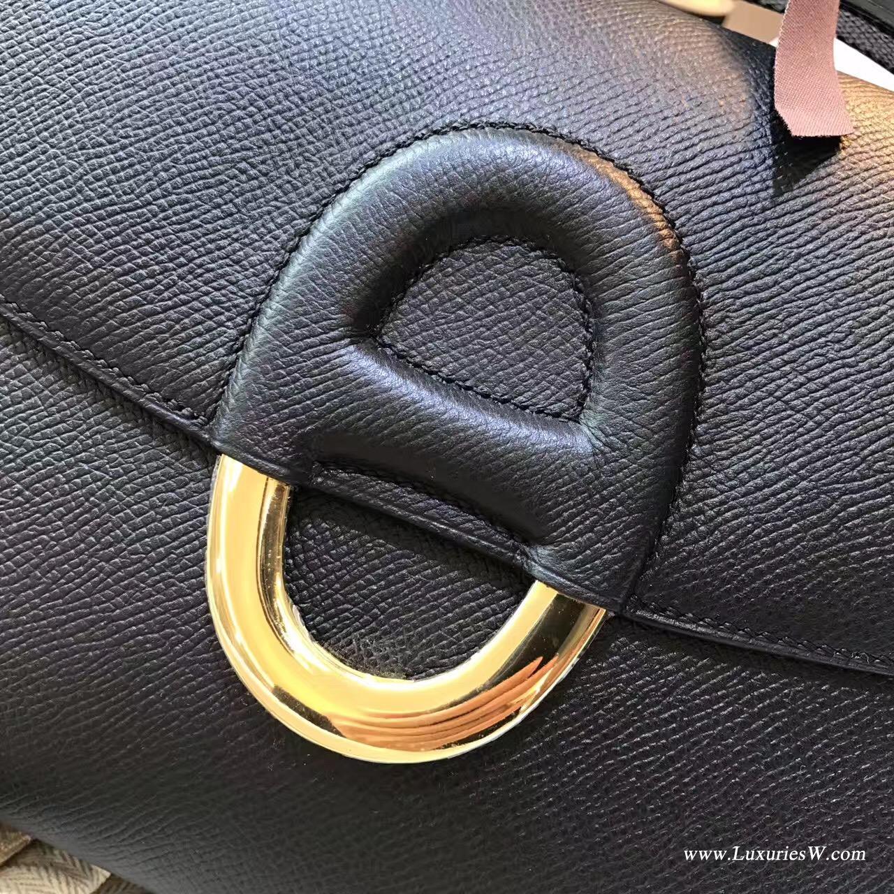 Cherche Epsom黑金 25 中號金扣 最經典的顏色