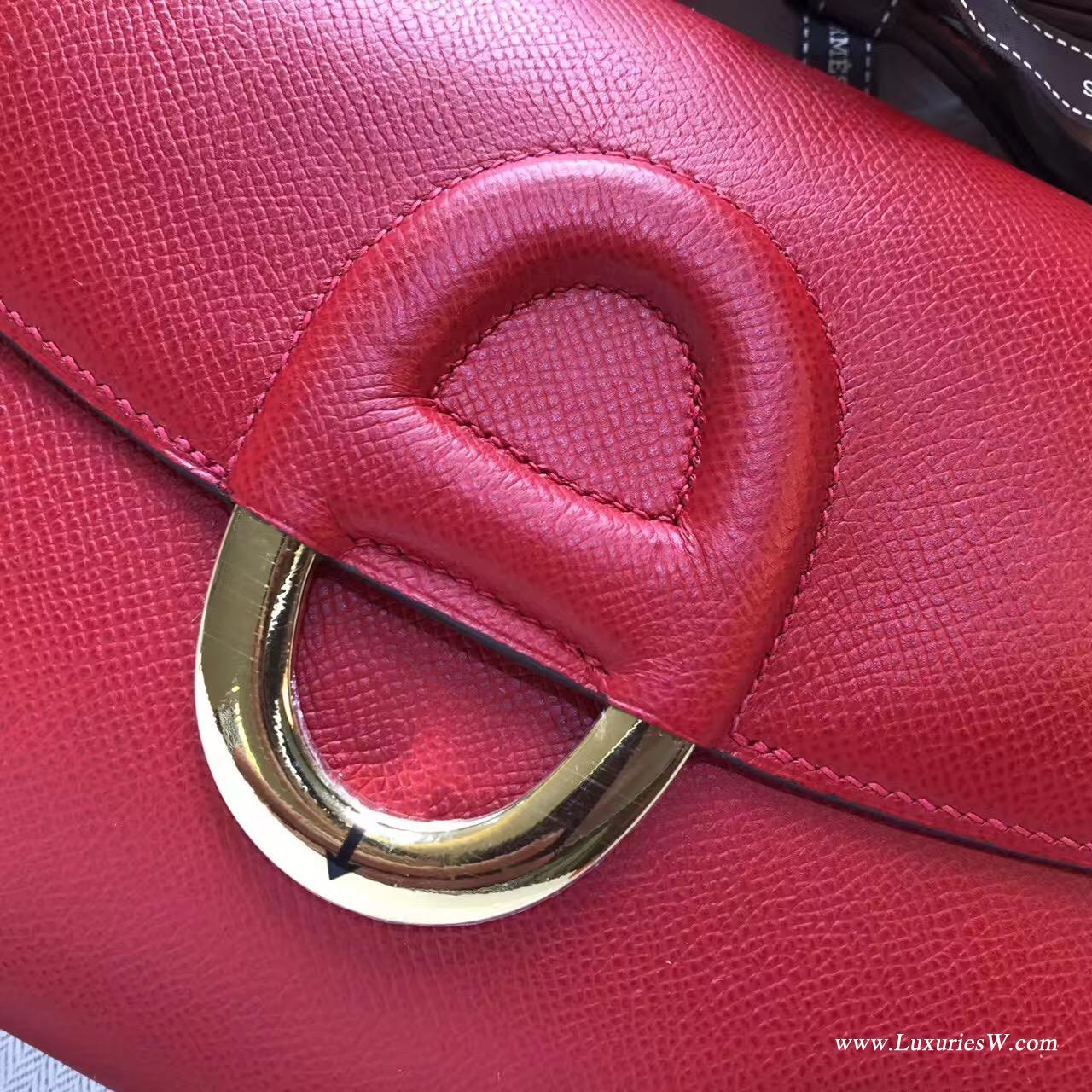 Cherche Epsom Q5 Rouge Cosscks中國紅金扣 最有人氣顏色 Midi鎖扣單肩包