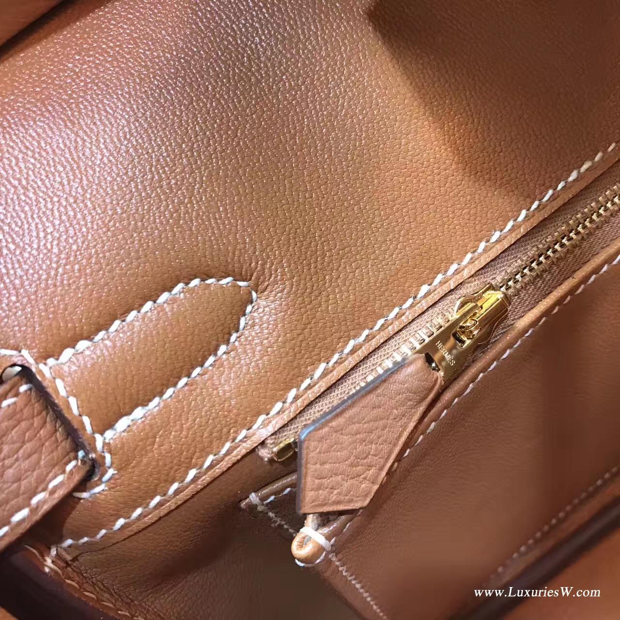 愛馬仕hermes 鉑金包Birkin 30 togo Gold 經典顏色之一金棕色