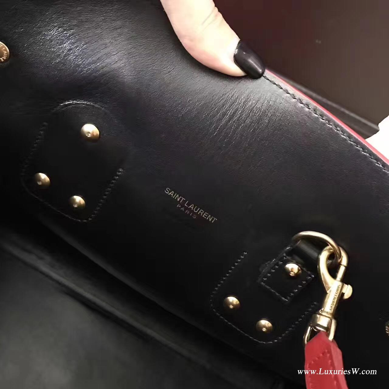 聖羅蘭YSL經典小號SAC DE JOUR和红色皮革手袋