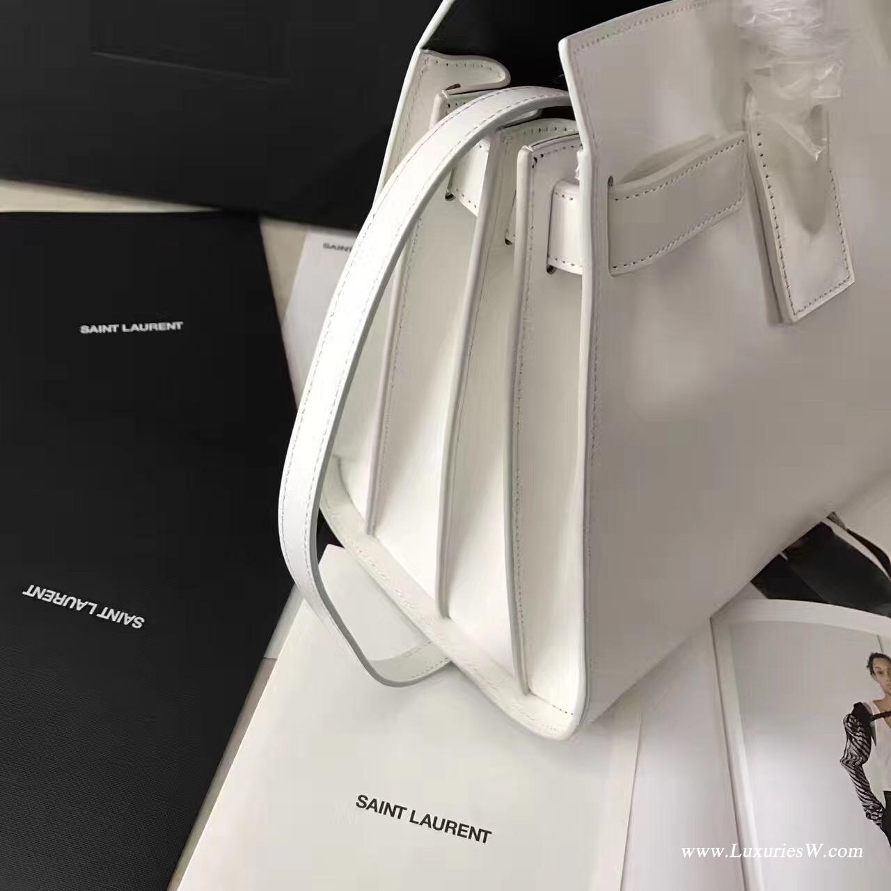 聖羅蘭YSL經典小號SAC DE JOUR和白色皮革手袋