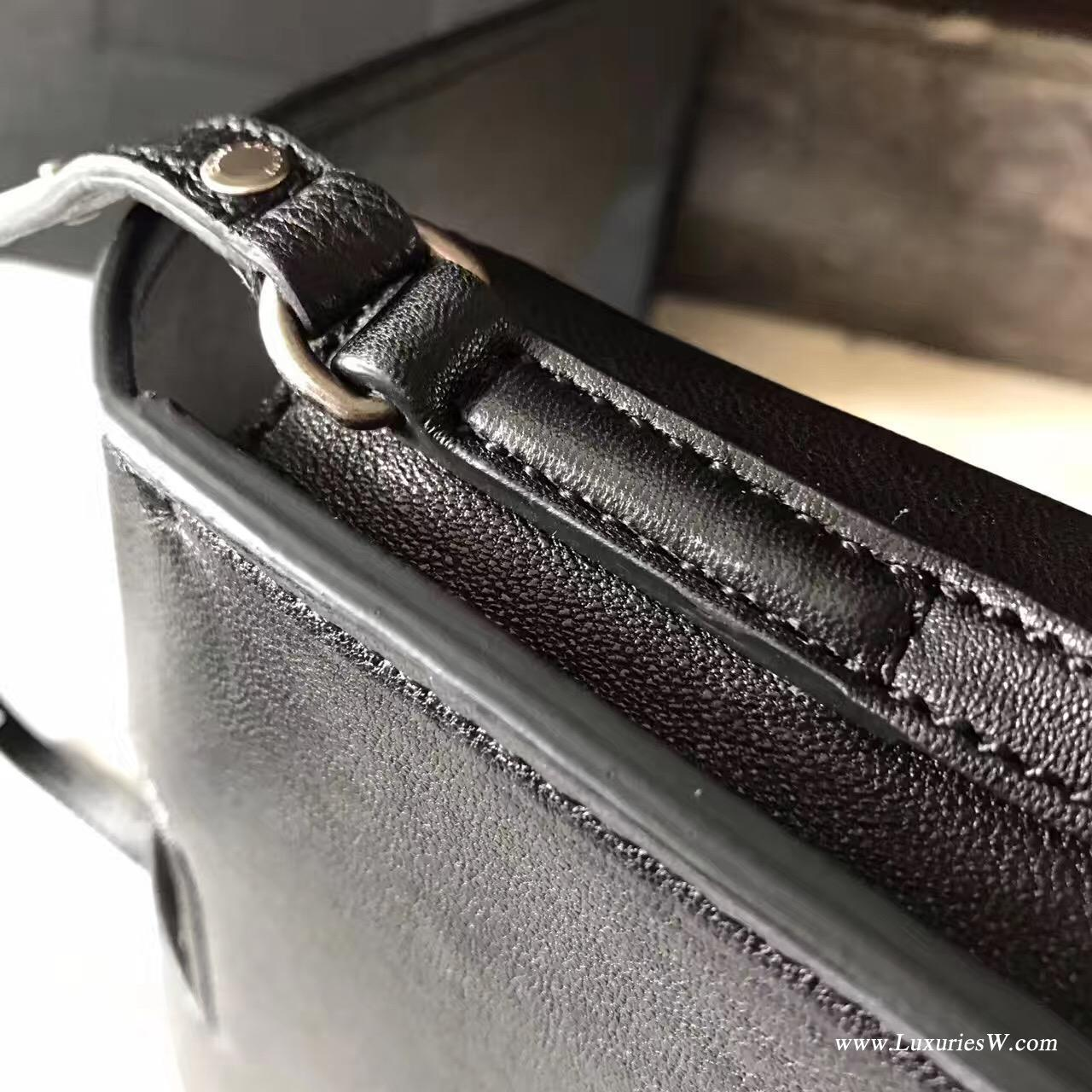 聖羅蘭YSL 小号黑色羊皮CHARLOTTE斜跨包 SAINT LAURENT挎包