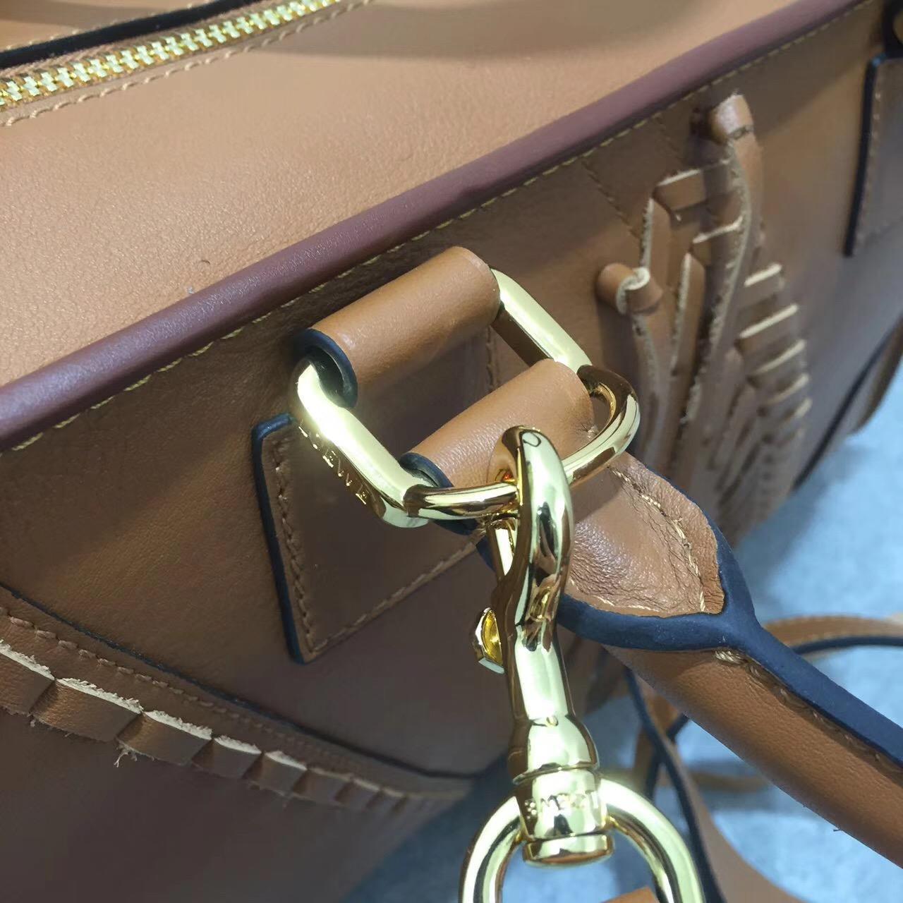羅意威 Amazona 系列小牛皮 經典編織款大號手袋