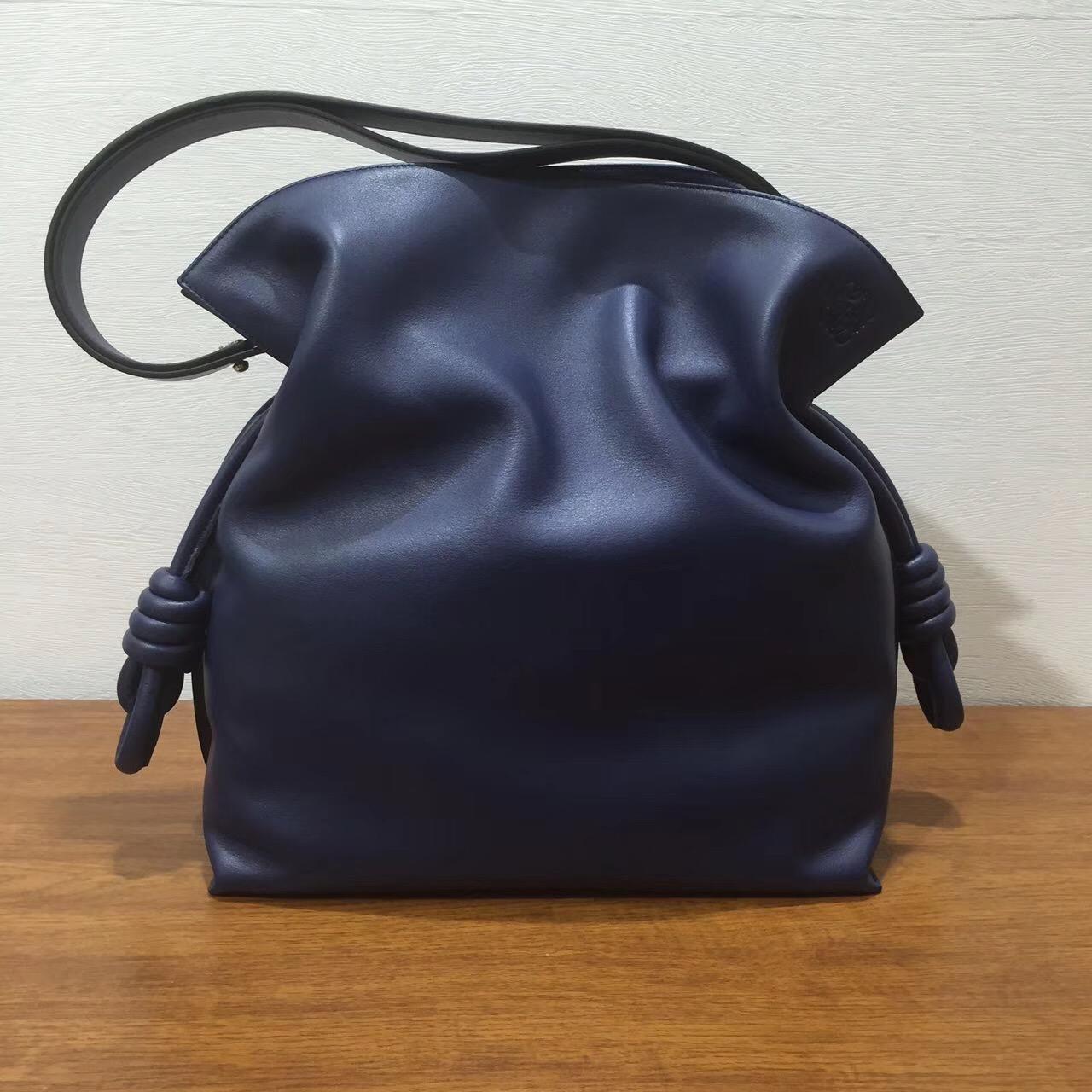 Loewe Flamenco绳结手袋 羅意威 Flamenco Knot Bag 靛蓝、深蓝色