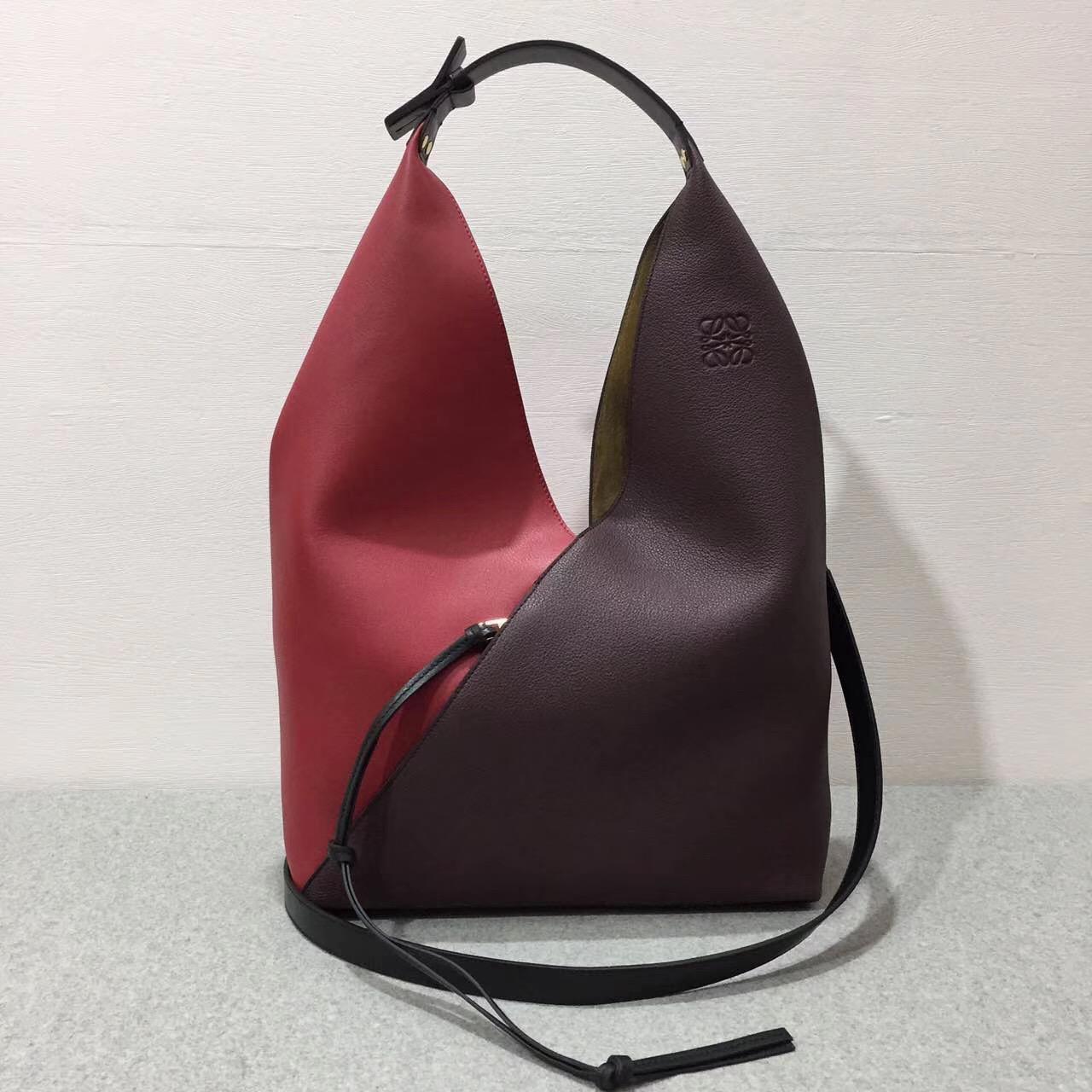 LOEWE Sling shoulder bag/Barneys New York,Colorblock Sling Grain Bucket Bag