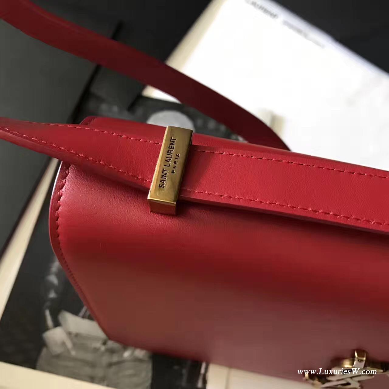 YSL包包 Saint Laurent SMALL DYLAN 紅色手袋