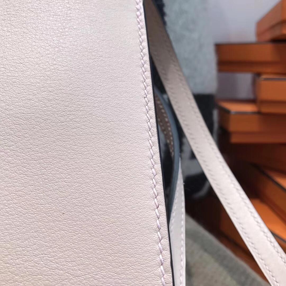 愛馬仕迷妳包 Halzan mini bag Swift calfskin P1 rose eglantine 月季花粉