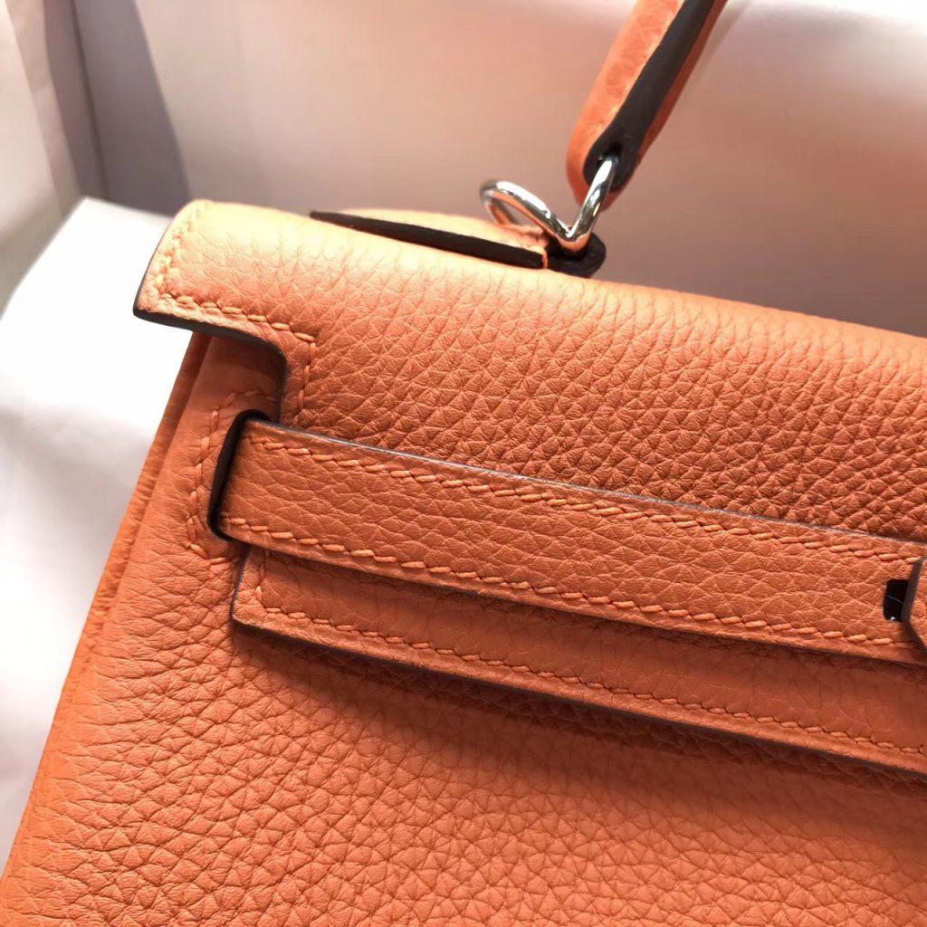 Hermes Kelly 25 togo CK93 Orange 經典顏色之壹橙色金扣
