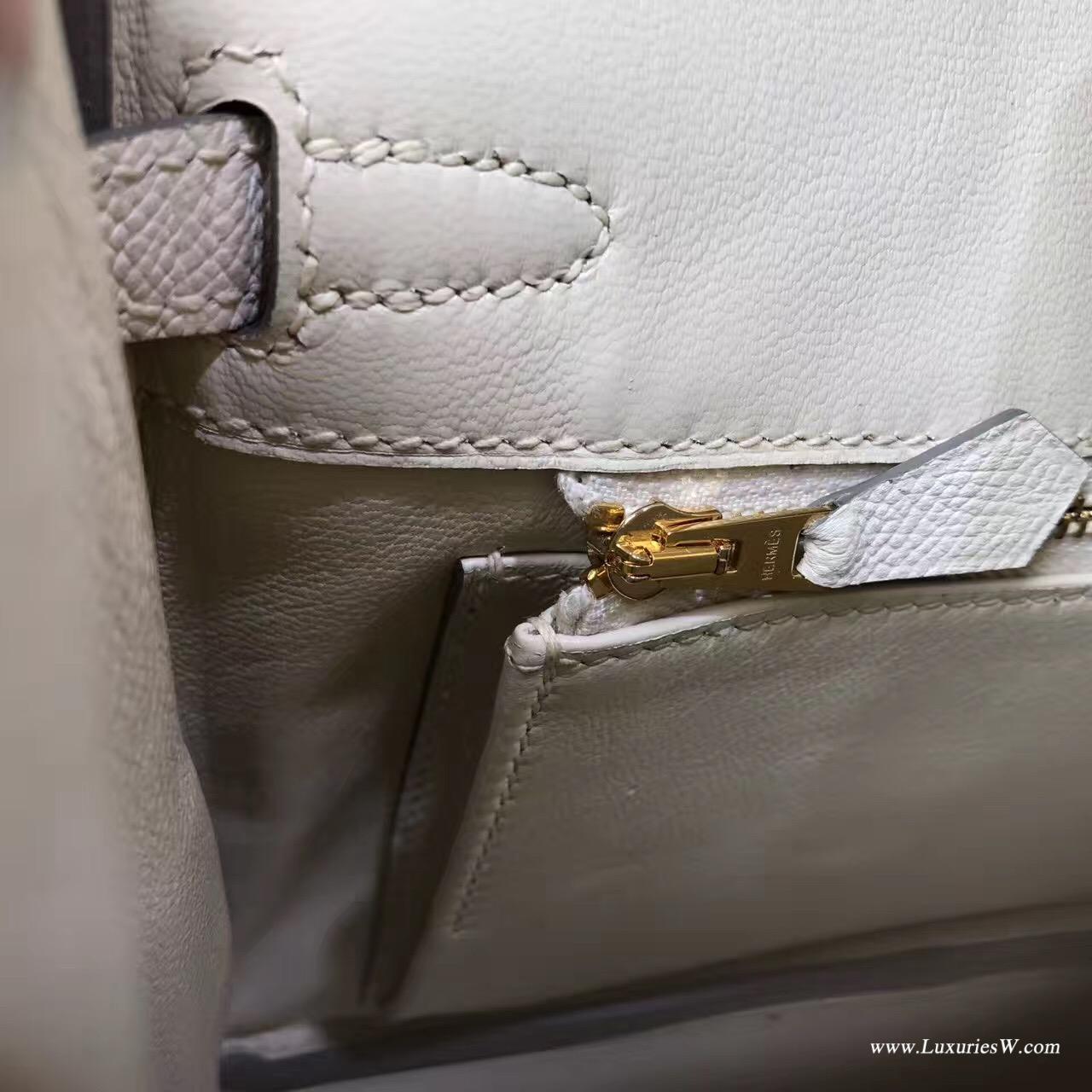 愛馬仕最出名的包袋 鉑金包 Birkin 25 Epsom CK10 Craie奶昔白