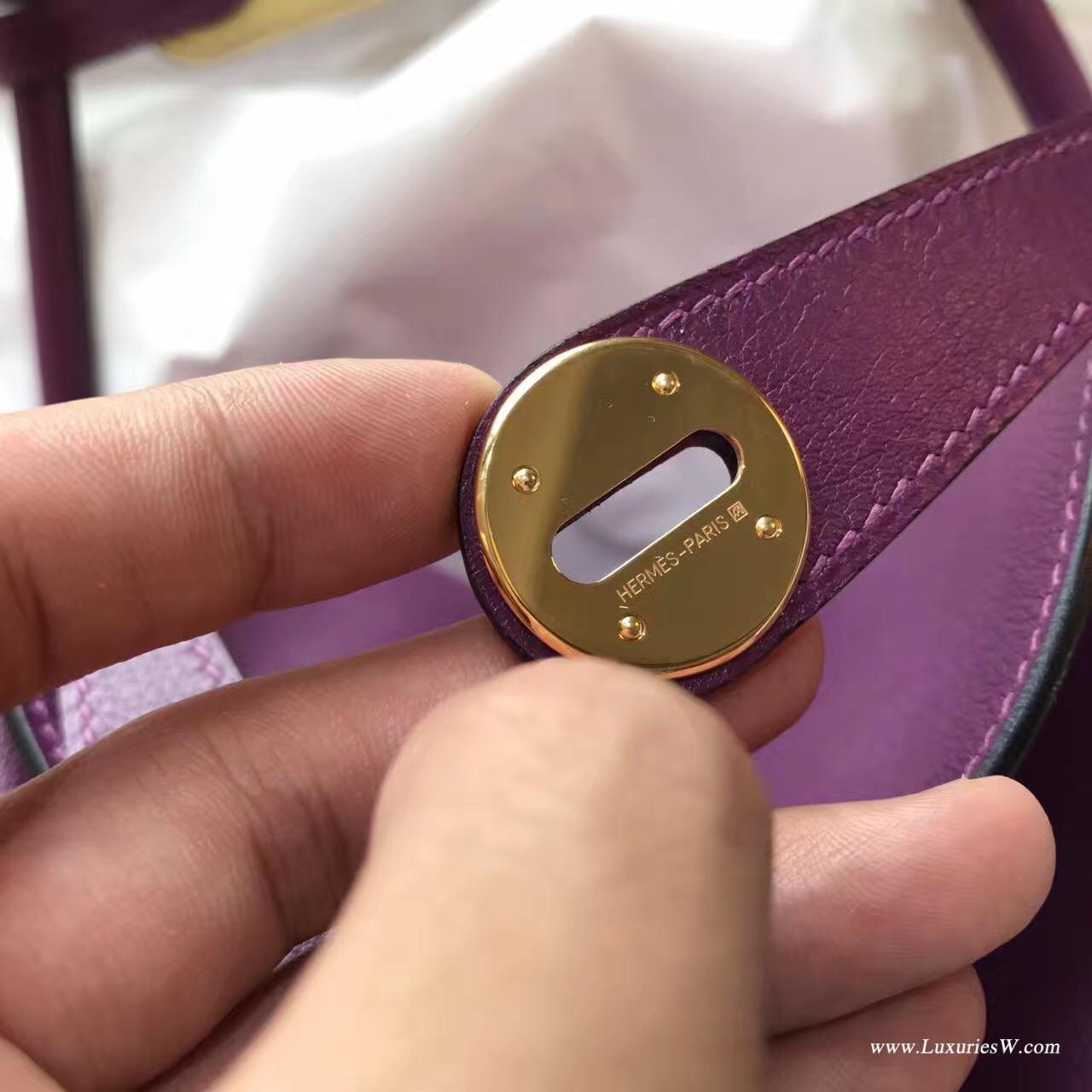 愛馬仕Lindy 26 Swift P9 Anemone 海葵紫/C9 Soufre鵝蛋黃 金扣