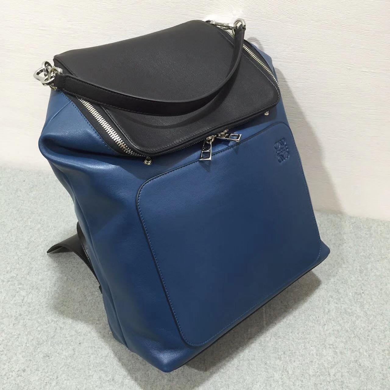 loewe羅意威 雙肩背包Goya Backpack Indigo/Black