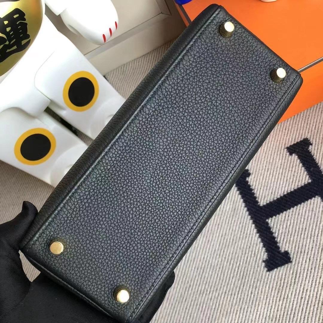 臺灣新竹市 Hermes Kelly 25cm Togo leather 89 Noir 黑色 金扣