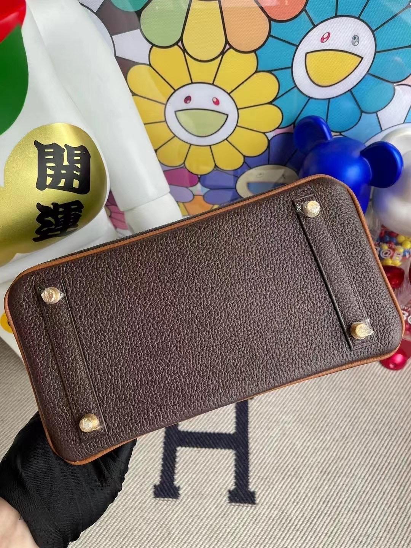愛馬仕鉑金包 Hermes Birkin 25 Hss Togo 47 Chocolate 巧克力 37 gold 金棕色