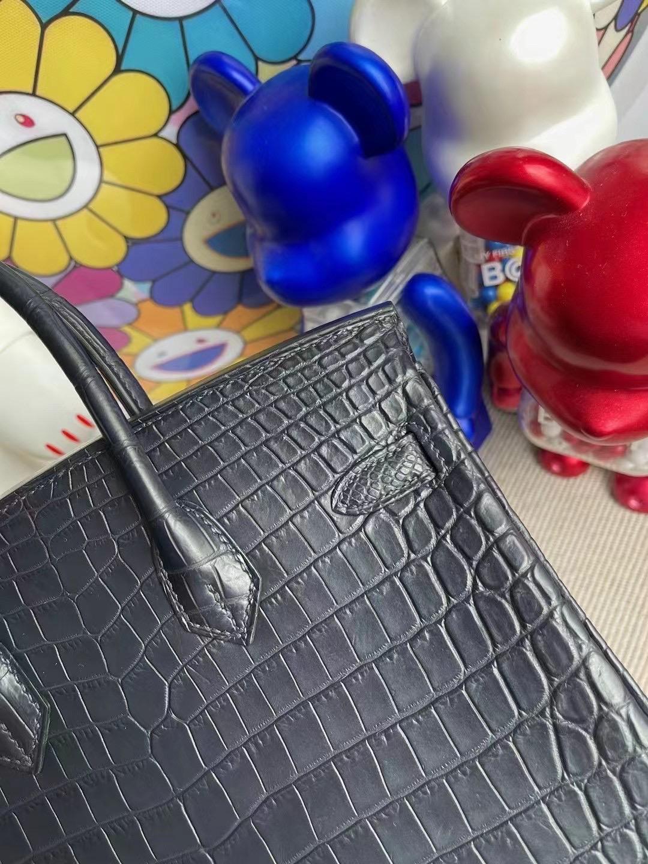 愛馬仕鉑金包25寸專櫃價格 Hermes Birkin 25cm 78 Bleu Marine 靛藍色尼羅鱷魚