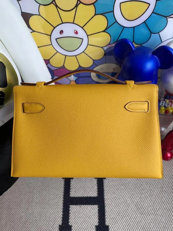 愛馬仕迷你凱莉包一代 Hermes MiniKelly Pochette Epsom 9D Amber 琥珀黃