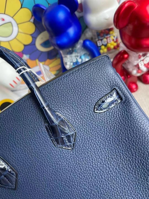 Hermes Birkin 25cm Touch Togo 73 Blue sapphire寶石藍尼羅鱷魚 玫瑰金扣
