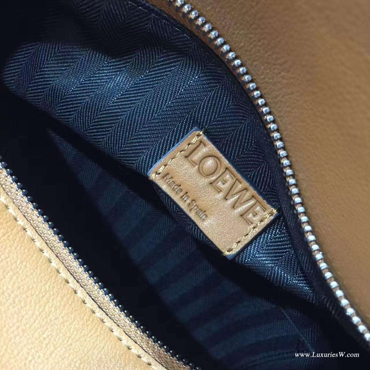 羅意威LOEWE包包 中號 Puzzle Bag 棕色 多拉鏈款 30cm 折疊幾何包