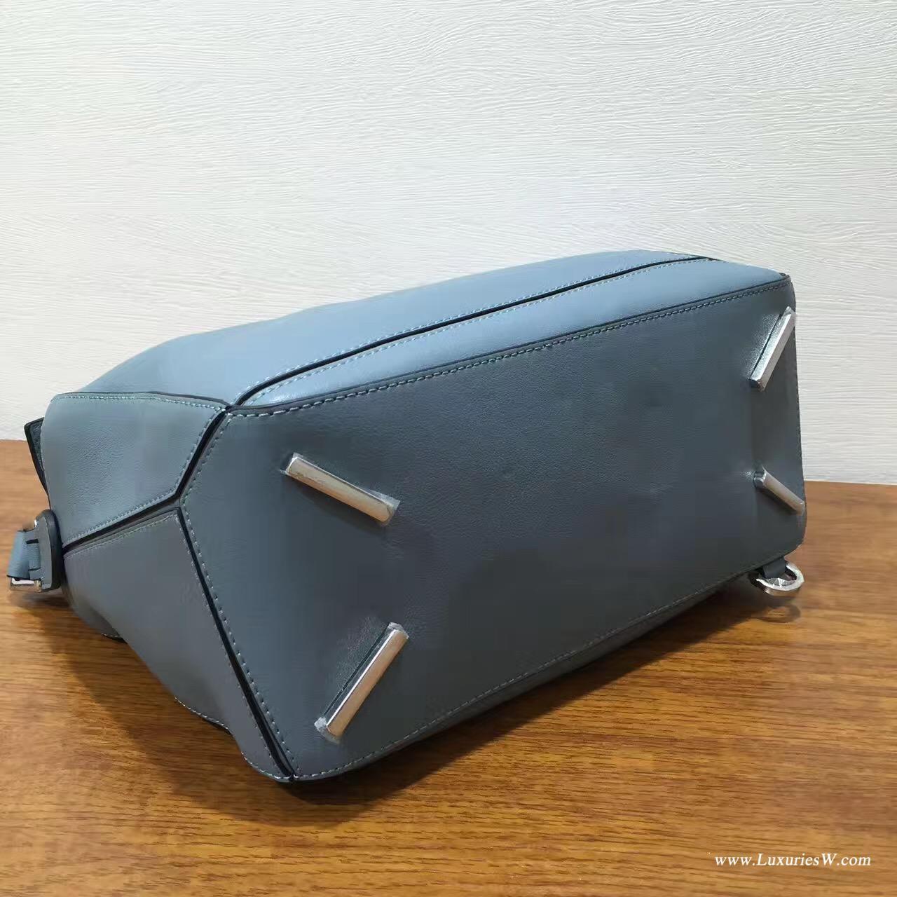 羅意威包包官網 LOEWE中號 Puzzle Bag 雾霾色 30cm 折疊單肩手提幾何包