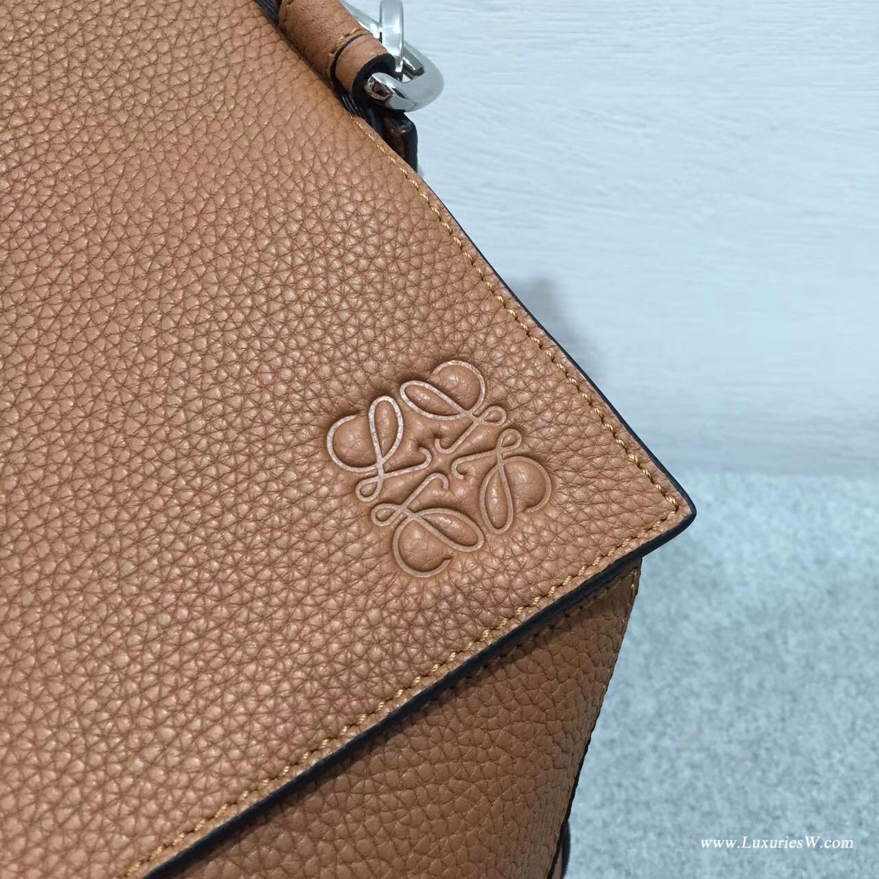 羅意威女包 Loewe Puzzle bag 系列 棕色 togo 牛皮 特大號無手柄幾何拼圖包
