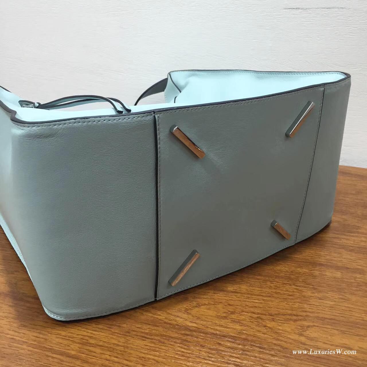 Loewe進口的柔軟小牛皮 hammock bag 大號冰藍(水綠色)