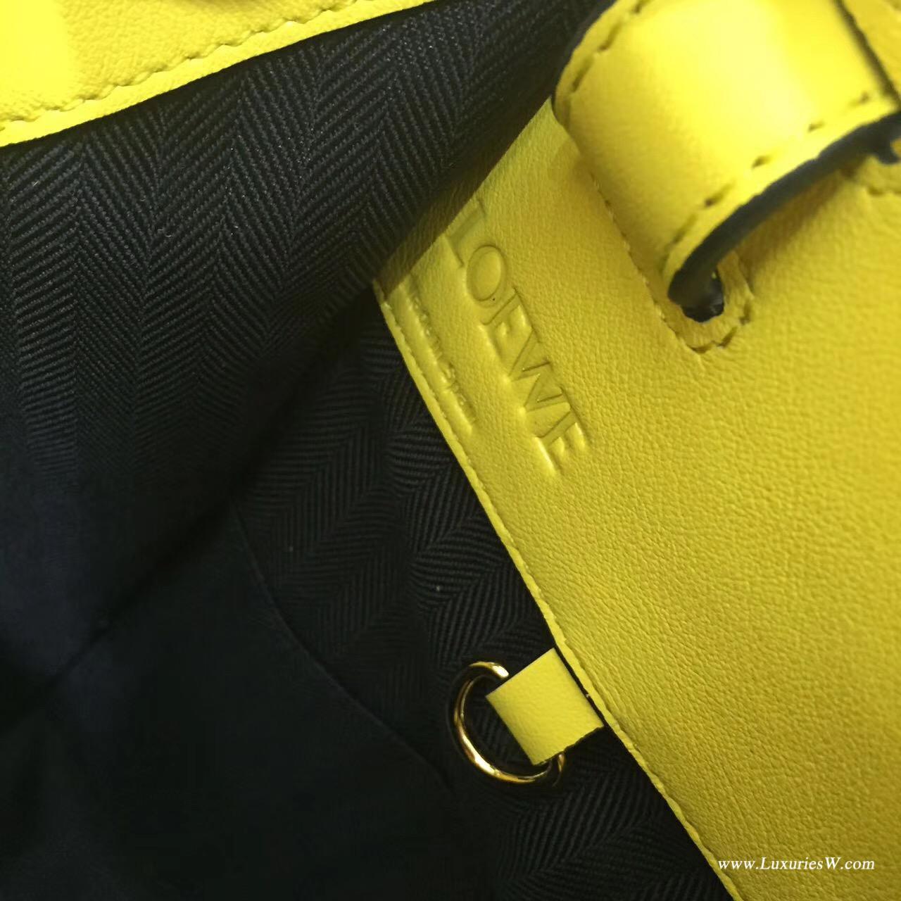 Loewe hammock bag 小吊床包檸檬黃,采用進口柔軟小牛皮