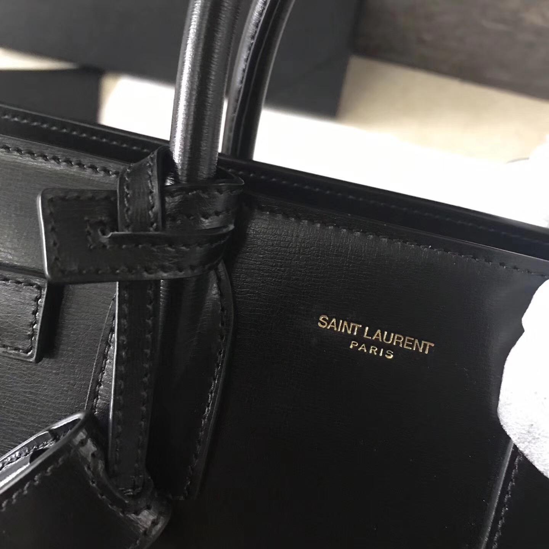 ysl Saint Laurent 經典Baby SAC DE JOUR 26cm黑配土黃