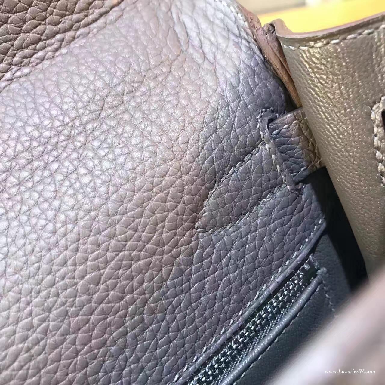 愛馬仕凱莉包 Kelly 28cm togo 8F Etain 錫器灰GHW金扣 超級氣質的灰色