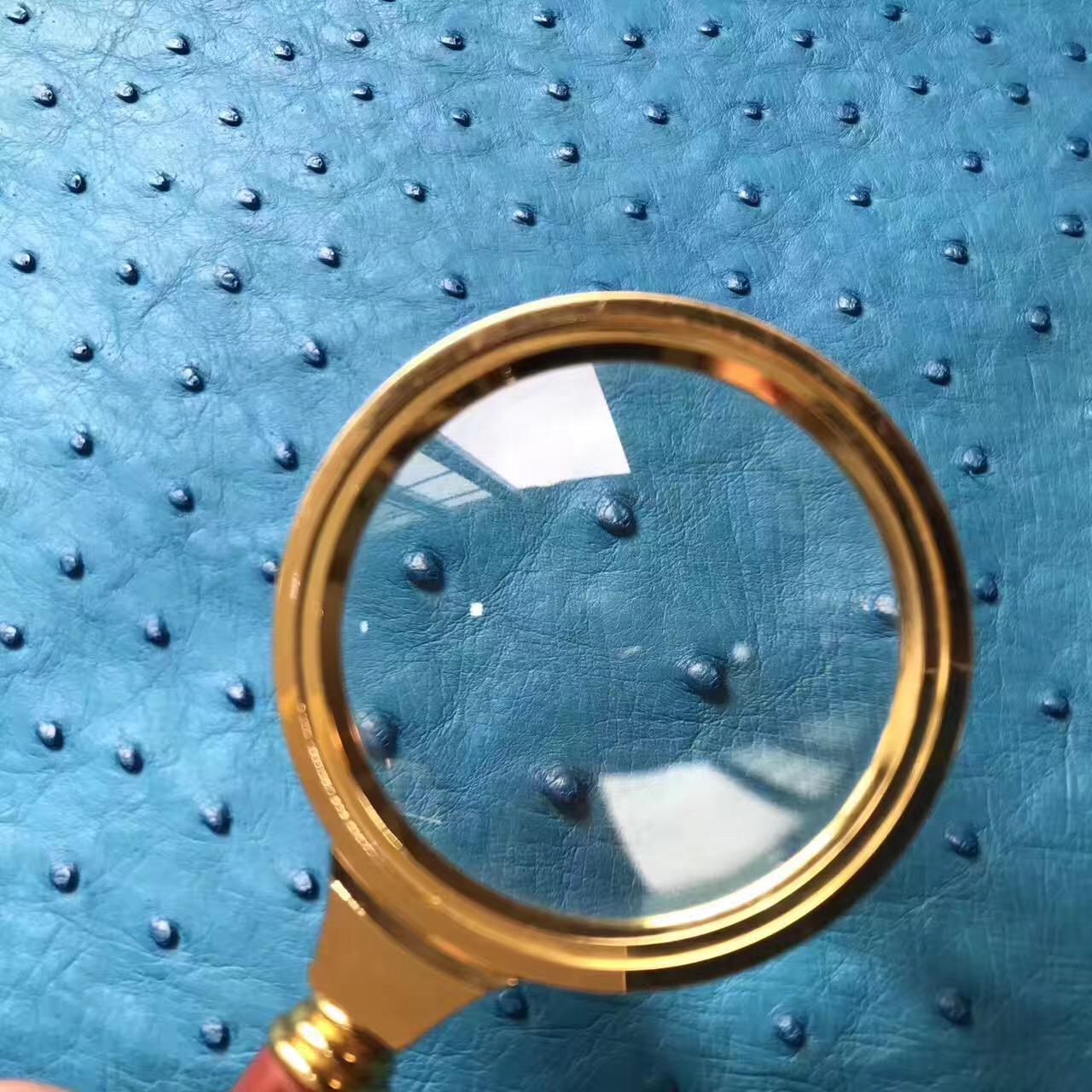 世界上最名貴的優質皮革 7W Blue Lzmir伊茲密爾藍鴕鳥皮