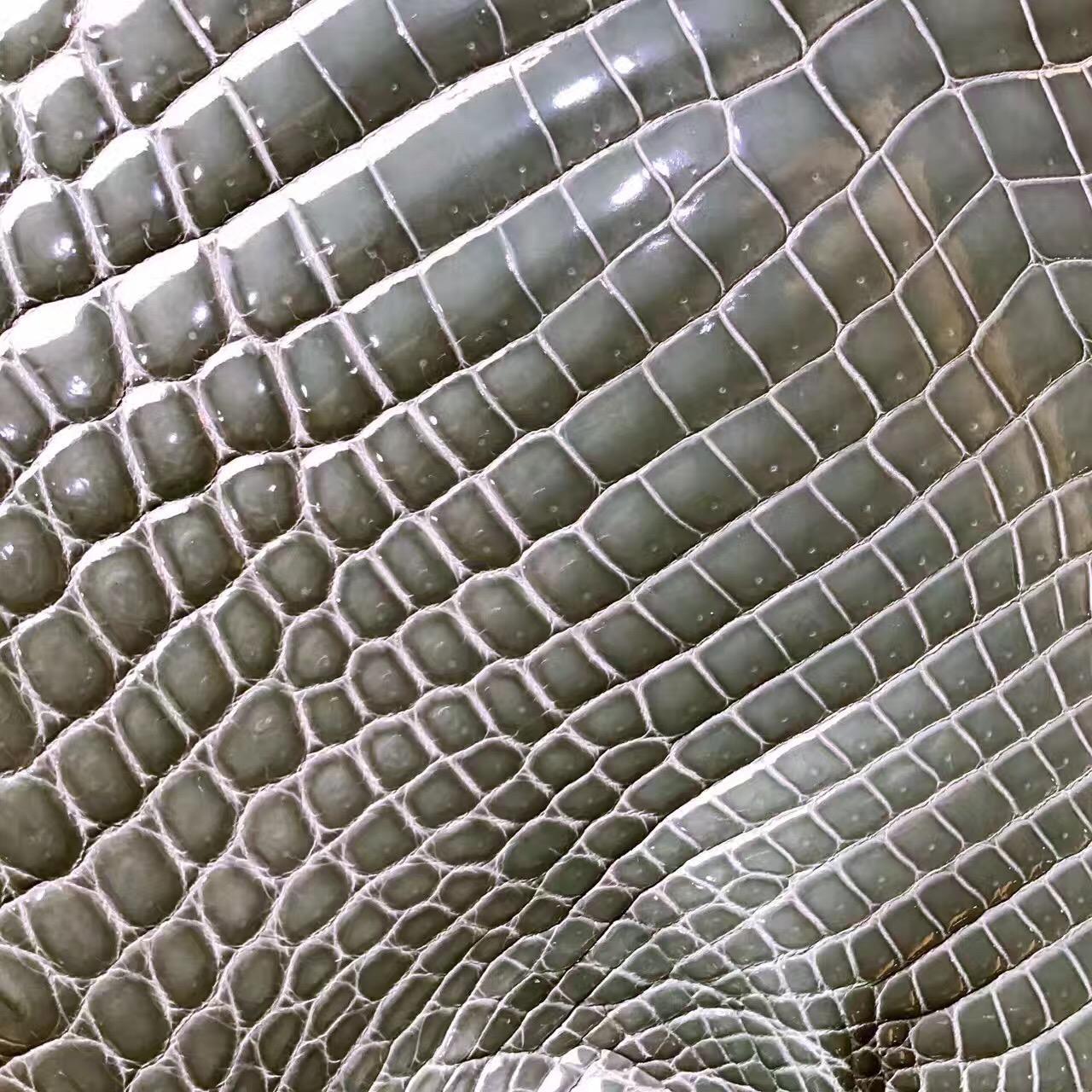 愛馬仕光面鱷魚皮 海鷗灰4Z 2017年最新顏色