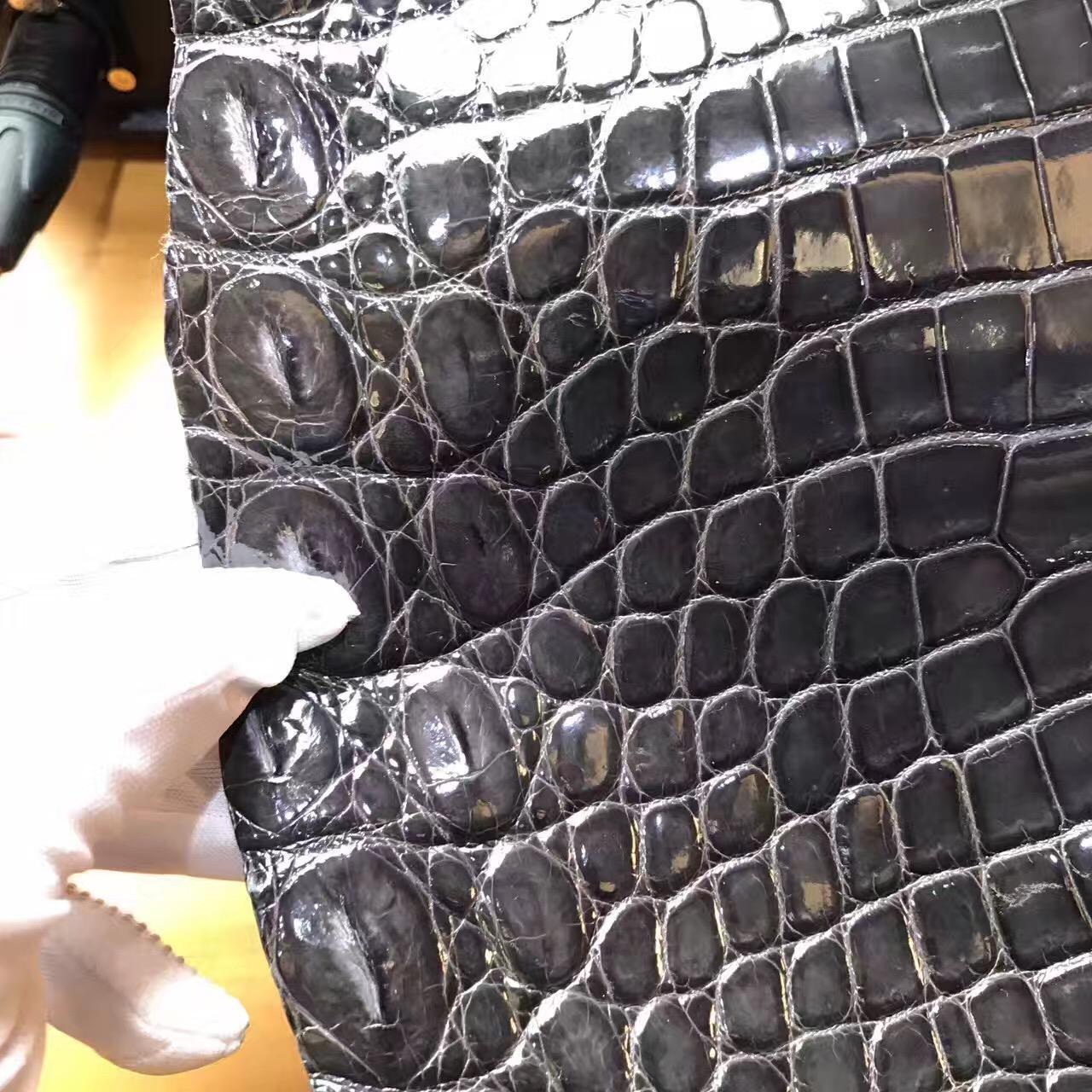 愛馬仕光面鱷魚皮 新鮮鱷魚剛到8F Etain 錫器灰 HTC原廠皮料