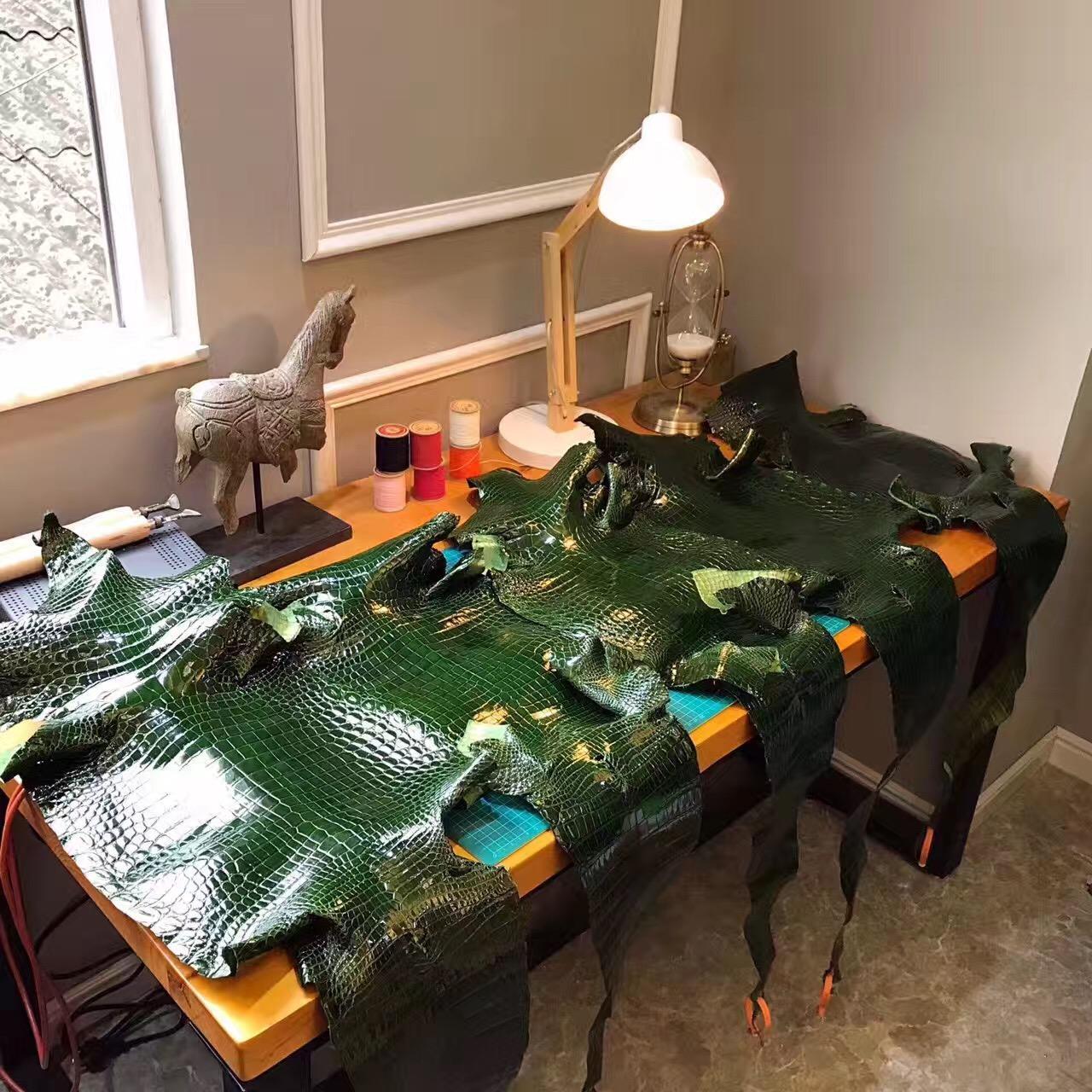 愛馬仕光面鱷魚皮Birkin 30 CK67 Vert Fonce Birkin 祖母綠氣質驚艷