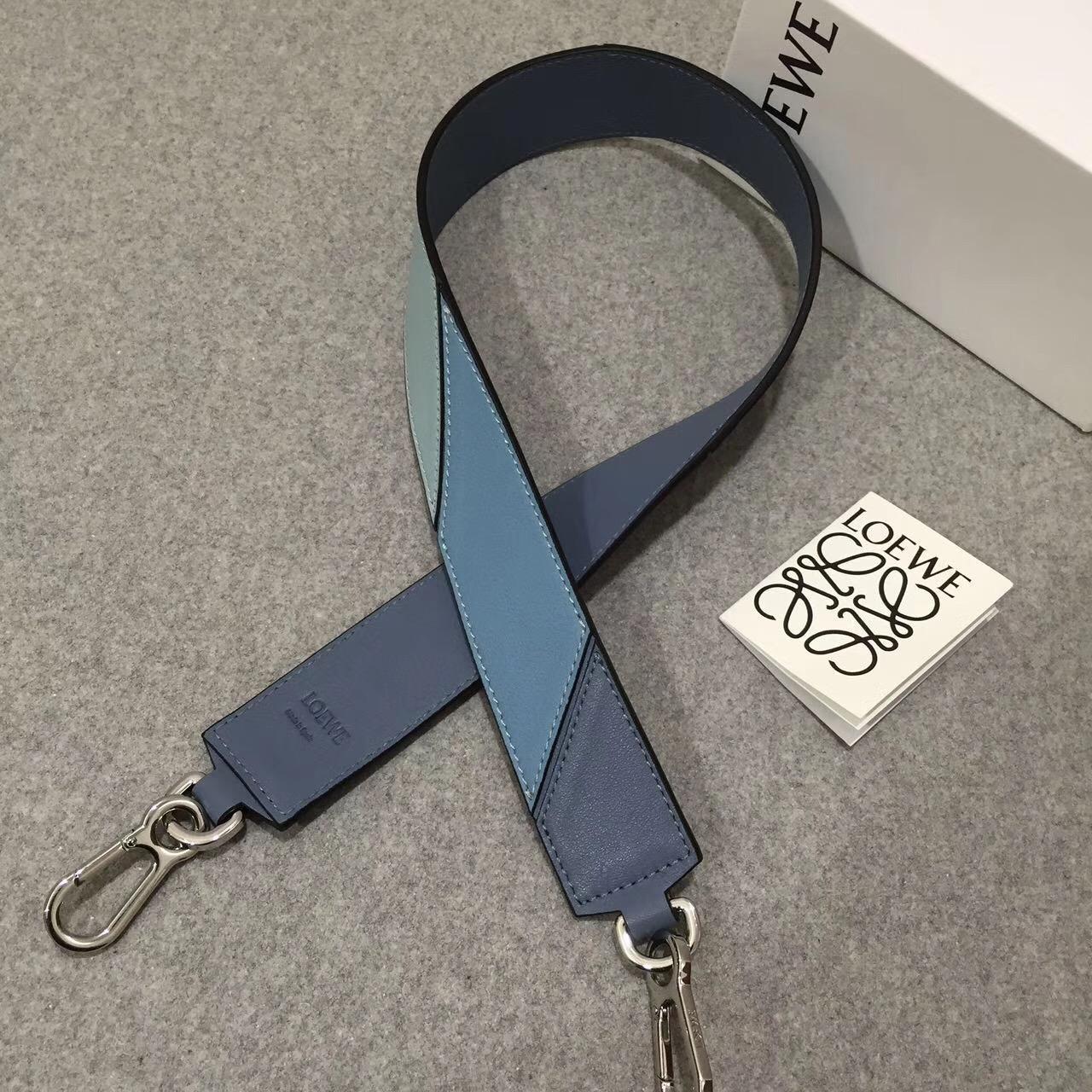 Loewe新款拼接肩帶 Degrade Strap Stone Blue Multitone