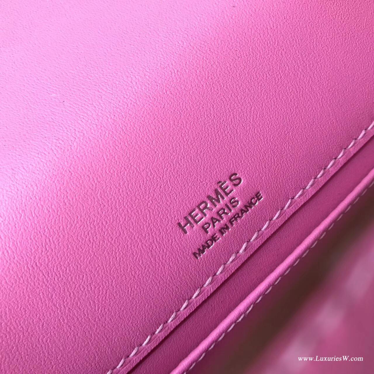 愛馬仕Hermes Mini Kelly Swift T5新糖果色银扣 類似於 紅中帶粉