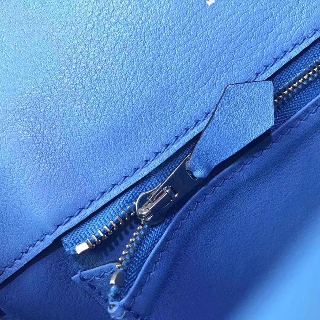 Berline 20cm Swift 2T Blue Paradise 天堂藍 PHW 帶點熒光的藍色