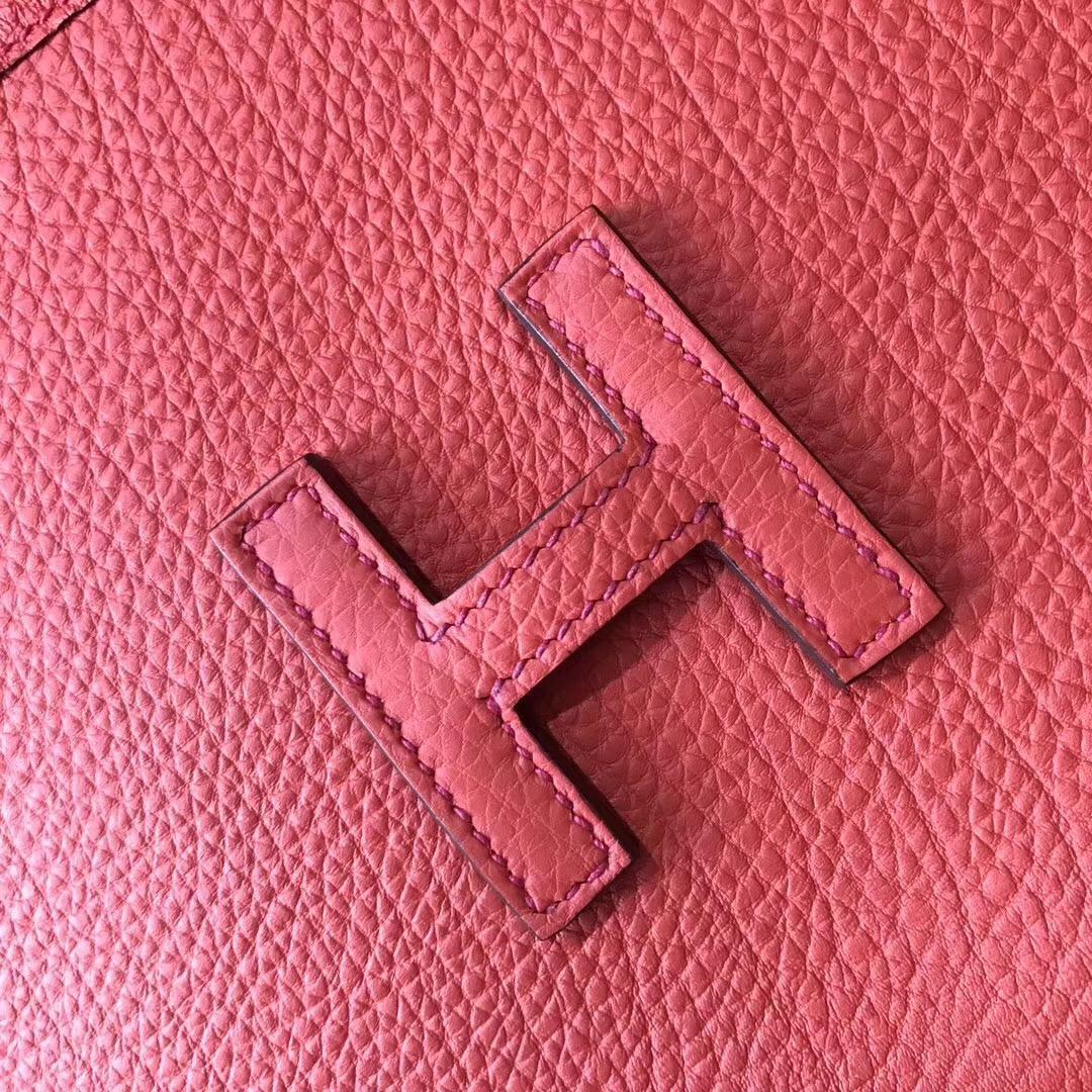 Hermes 稀缺產品 Jige togo A5 Bougainvillier 杜鵑紅