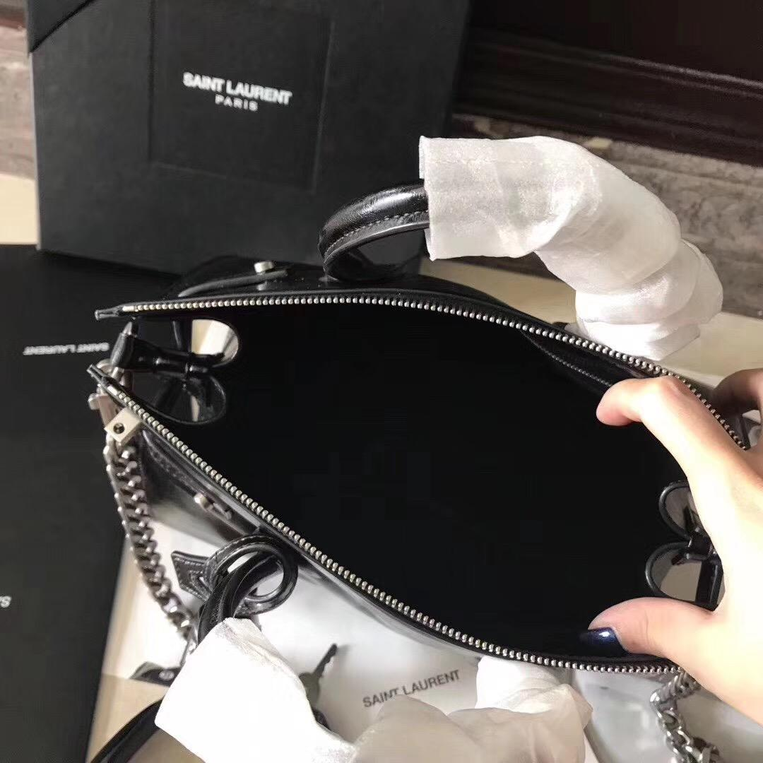ysl Baby SAC DE JOUR SOUPLE duffle bag in black moroder leather