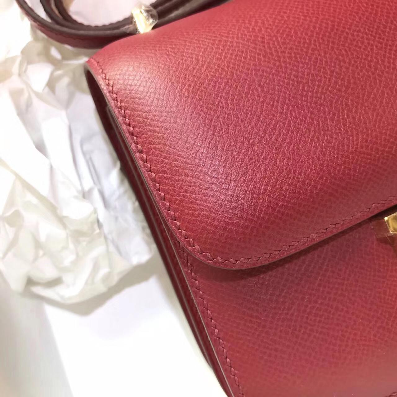 最難買的包袋是什麼 Constance 18 epsom k1 石榴紅 rouge grenat 金扣