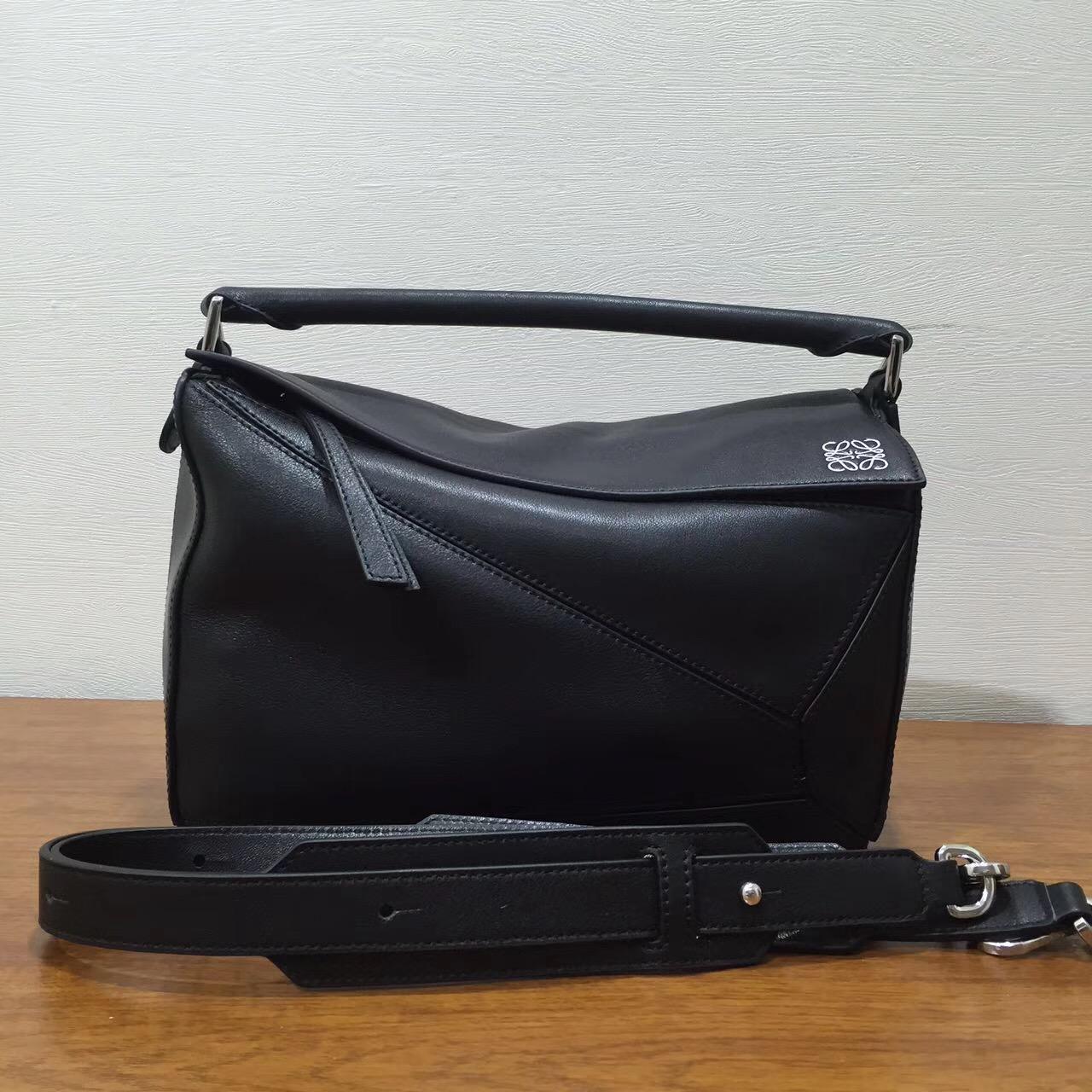 Loewe羅意威女包幾何包 中號 Puzzle Bag 黑色