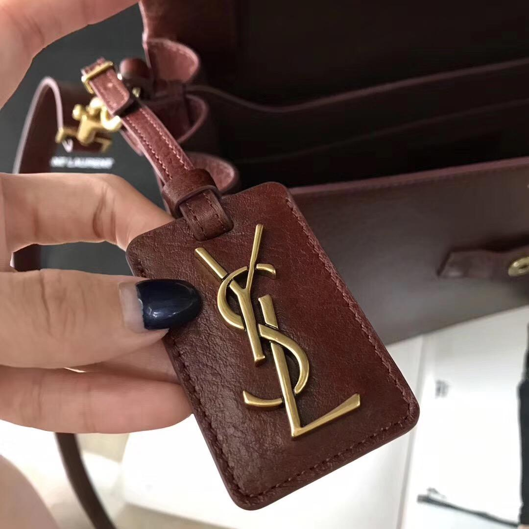 YSL NOE SAINT LAURENT crossbody bag in cognac shiny leather駱駝色