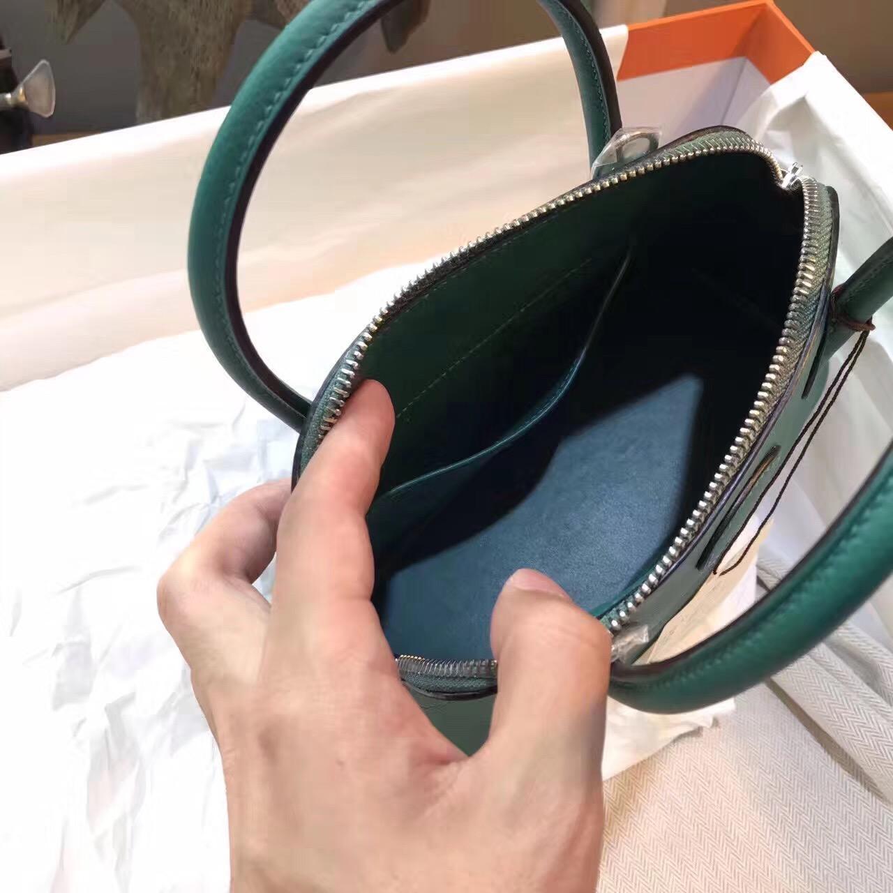 臺灣新北市汐止區 愛馬仕保齡球包 Hermes Bolide epsom皮 27cm Z6 孔雀綠 Malachite