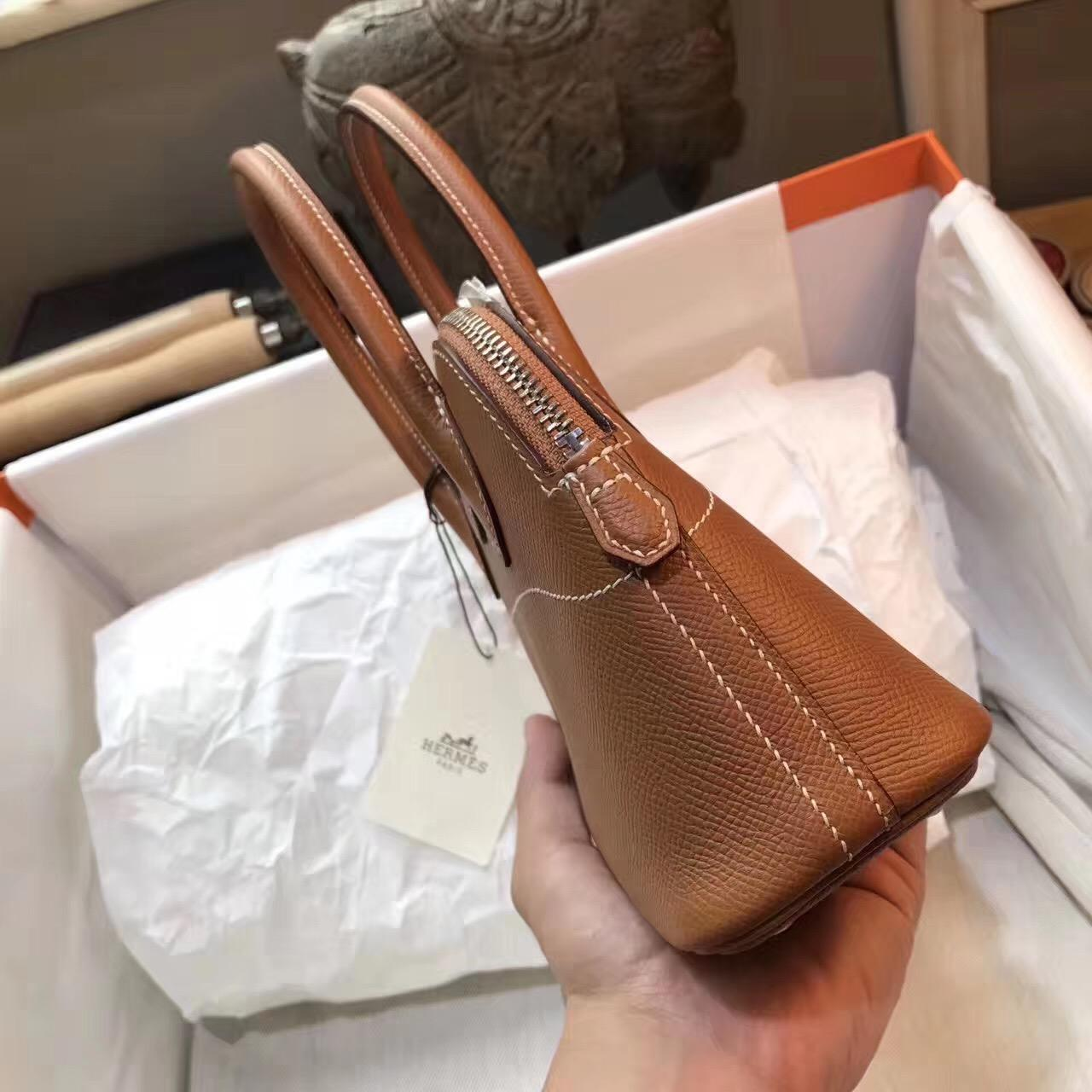 愛馬仕保齡球包 手提包 Hermes Bolide  epsom皮 27cm bolide 土黃/金棕色 寶萊包